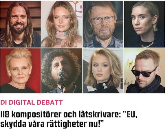 Sveriges största musikskapare engagerar sig för en stärkt upphovsrätt
