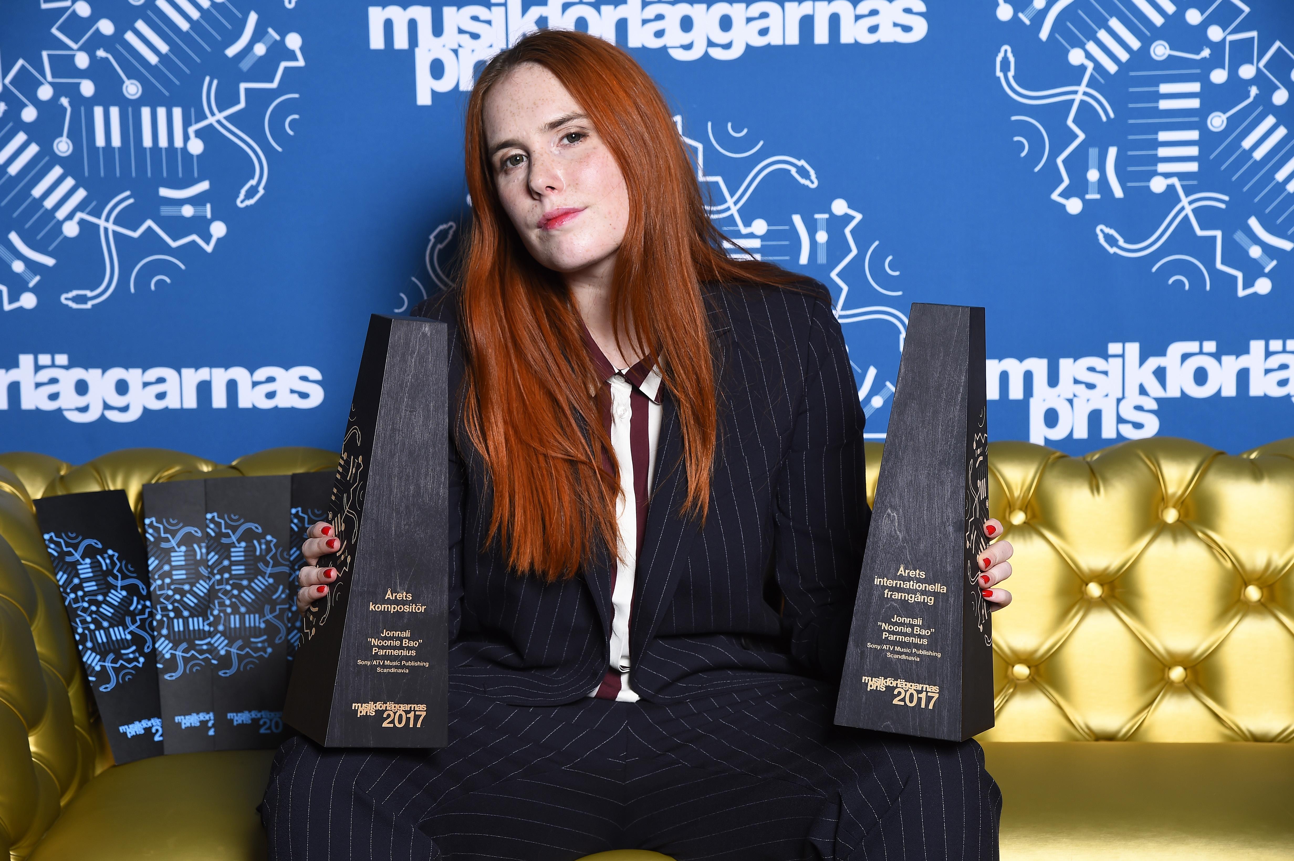 Två tunga priser till låtskrivaren Noonie Bao på Musikförläggarnas Pris 2017