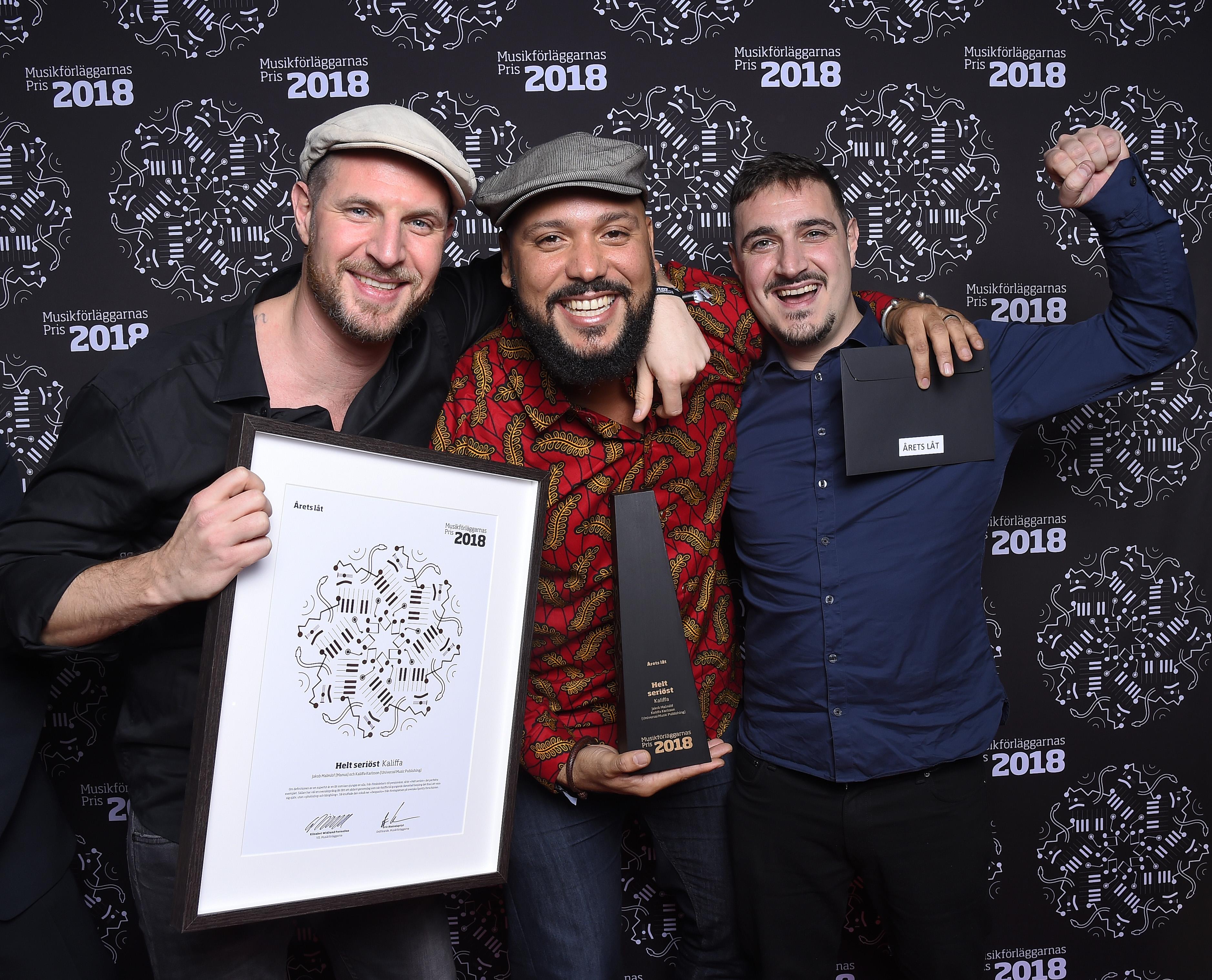 Årets vinnare på Musikförläggarnas Pris