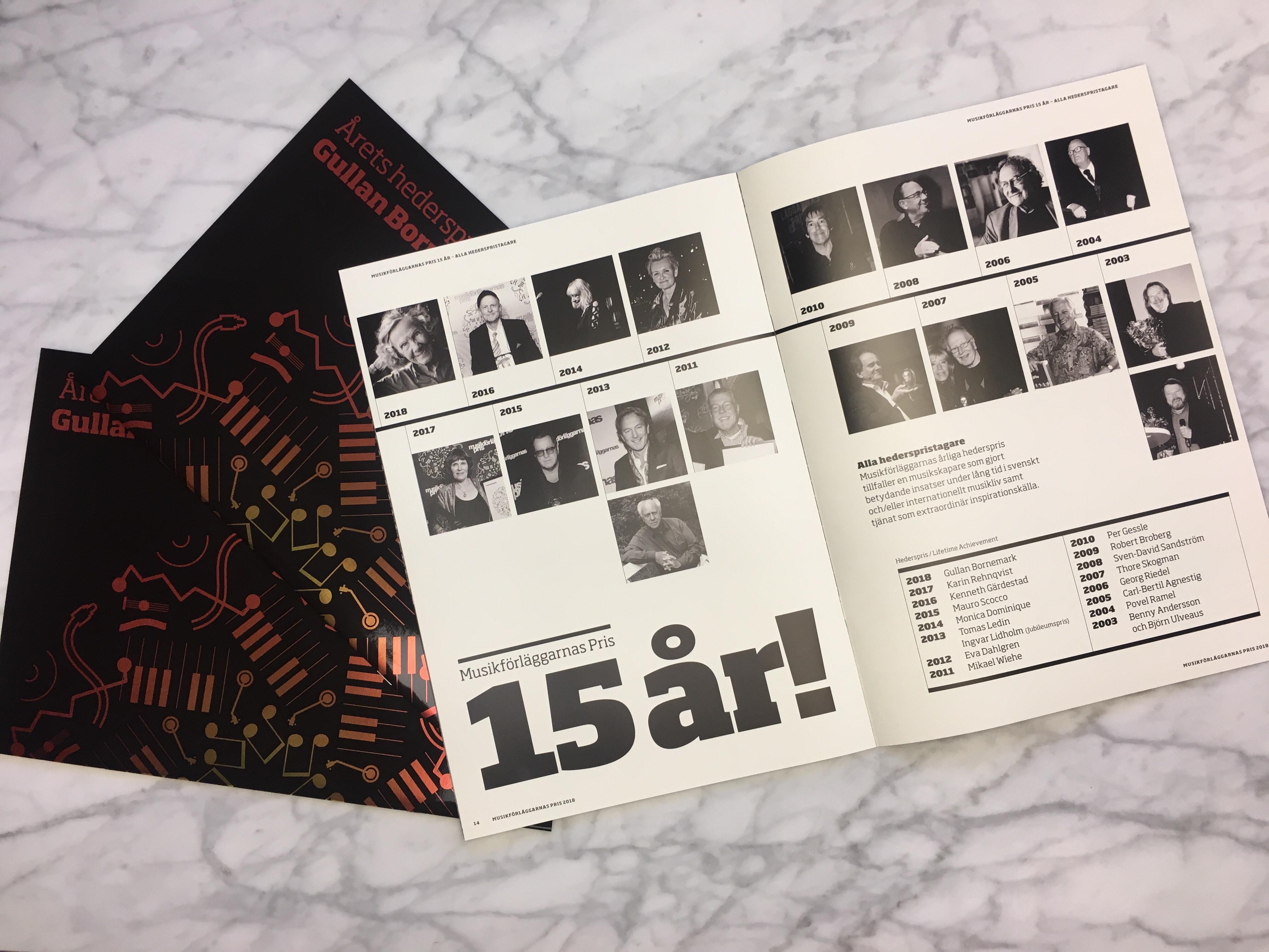 Musikförläggarnas Pris galatidning 2018