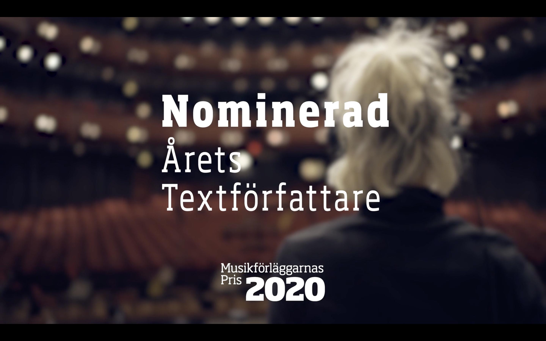 Nomineringsfilmer Musikförläggarnas Pris 2020