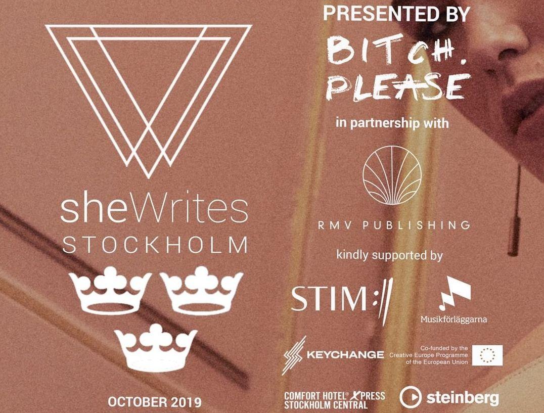 Musikförläggarna är stolt sponsor till sheWrites 2019